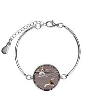 Beagle Striped  Metallic Circle Bracelet thumbnail
