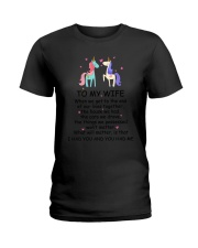 Unicorn To my wife 1807 Ladies T-Shirt tile