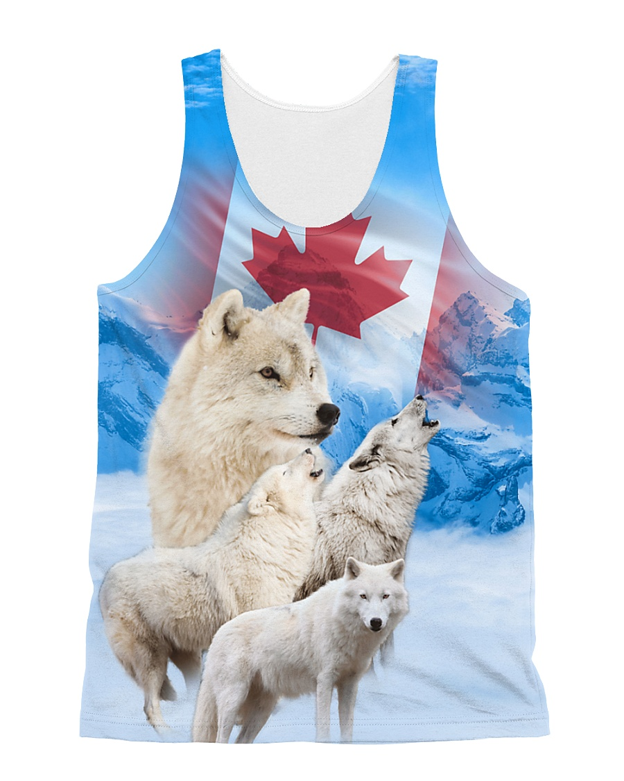Wolf Canada Proud 1806 All-over Unisex Tank