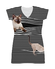 Siamese Cat Striped  All-over Dress thumbnail