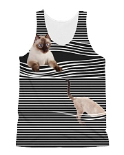 Siamese Cat Striped  All-over Unisex Tank front