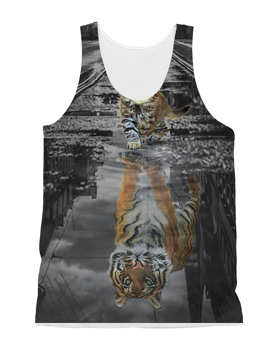 Cat and Tiger Be Yourself All-over Unisex Tank