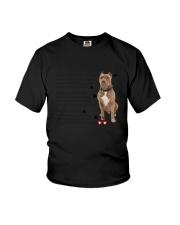 Pitbull - Leave paw prints on your heart 1906P Youth T-Shirt thumbnail
