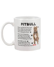 Pitbull - Leave paw prints on your heart 1906P Mug back