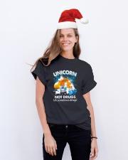 Unicorn Not Drug 0509 Classic T-Shirt lifestyle-holiday-crewneck-front-1