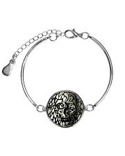 Skull face disappears Metallic Circle Bracelet thumbnail