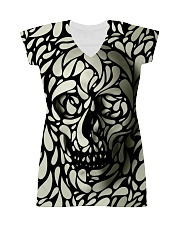 Skull face disappears All-over Dress thumbnail