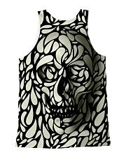 Skull face disappears All-over Unisex Tank back