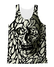 Skull face disappears All-over Unisex Tank front