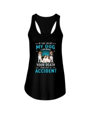 Beagle Accident Ladies Flowy Tank tile