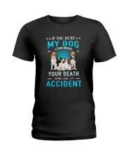 Beagle Accident Ladies T-Shirt tile