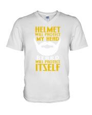 Beard protects itself 2106L V-Neck T-Shirt thumbnail