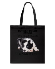 Border collie error 1606L Tote Bag tile
