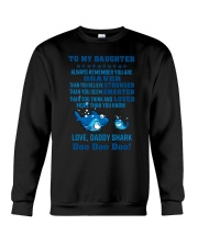 Daddy shark - To my daughter 1806L Crewneck Sweatshirt thumbnail