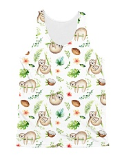 Sloth Coconut  All-over Unisex Tank front