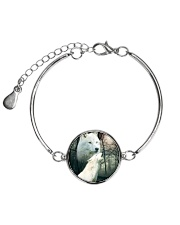 Wolf Couple 1606 Metallic Circle Bracelet thumbnail