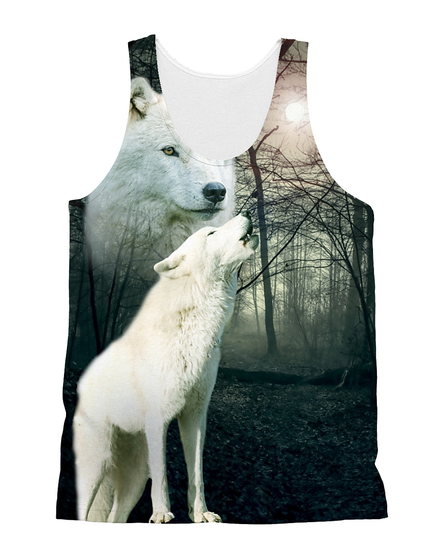 Wolf Couple 1606 All-over Unisex Tank