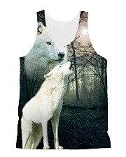Wolf Couple 1606 All-over Unisex Tank front