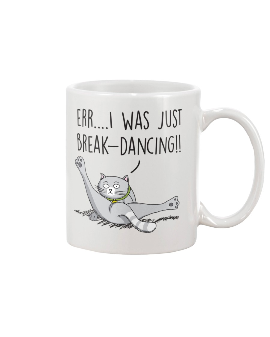 Cat - Just break dancing 1806D Mug
