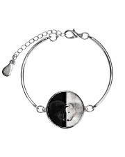 Wolf Black and White Metallic Circle Bracelet thumbnail