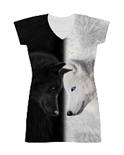Wolf Black and White All-over Dress thumbnail