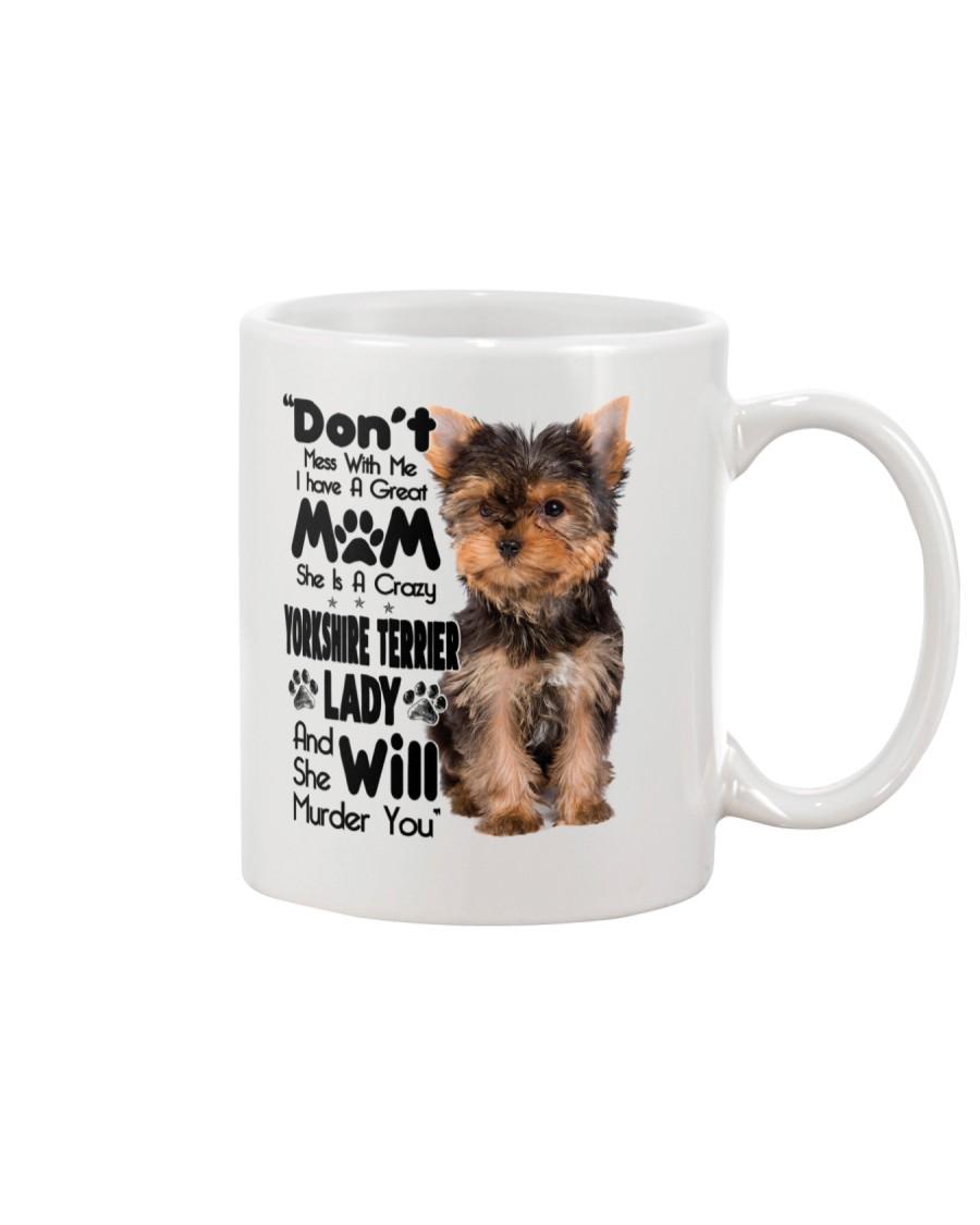 Yorkshire Terrier Crazy Lady 2006 Mug