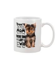 Yorkshire Terrier Crazy Lady 2006 Mug front