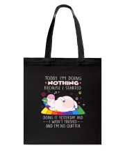 Unicorn nothing Tote Bag thumbnail