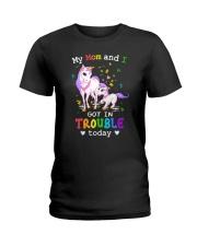 Unicorn mom and I 2409 Ladies T-Shirt thumbnail