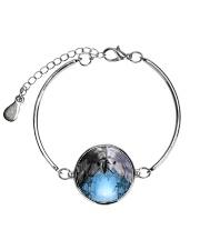 Unicorn Black and White 2408 Metallic Circle Bracelet thumbnail