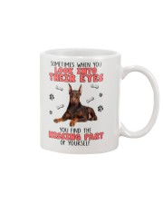 Doberman Pinscher Eyes 1406 Mug front