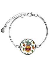 Pineapple Skull  Metallic Circle Bracelet thumbnail