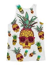 Pineapple Skull  All-over Unisex Tank back