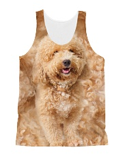 Poodle Full Shirt All-over Unisex Tank front
