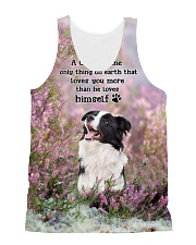 Border Collie - Love you than himself 1806P All-over Unisex Tank front