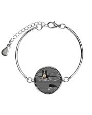 Collie Striped  Metallic Circle Bracelet thumbnail