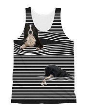 Collie Striped  All-over Unisex Tank front