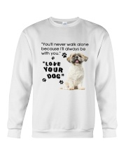 Shih Tzu With You Crewneck Sweatshirt thumbnail