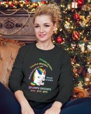 Unicorn Annoyed 0712 Crewneck Sweatshirt lifestyle-holiday-sweater-front-2