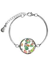 Siberian Husky Tropical 1406 Metallic Circle Bracelet thumbnail