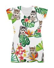 Siberian Husky Tropical 1406 All-over Dress thumbnail