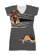 German Shepherd Striped All-over Dress thumbnail