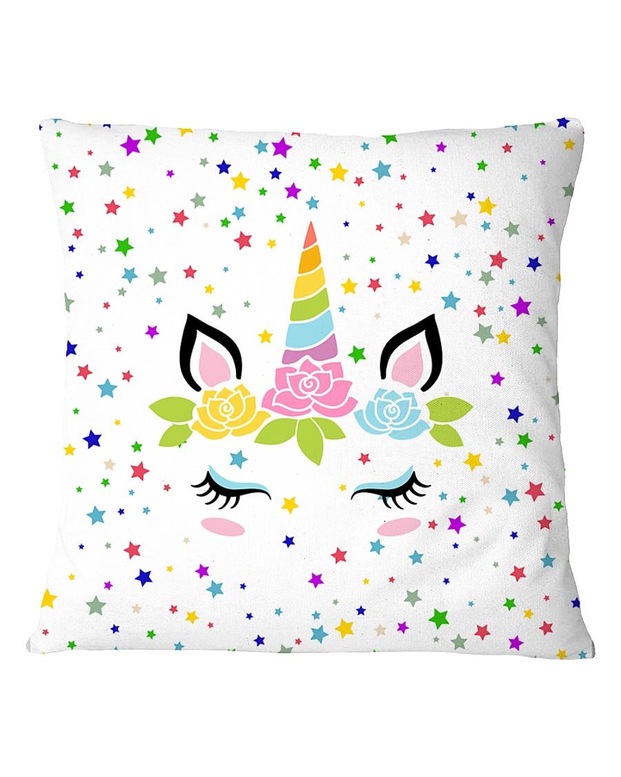 Sleeping unicorn face Square Pillowcase