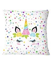 Sleeping unicorn face Square Pillowcase front