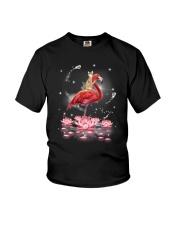 Cat Ride Flamingo Youth T-Shirt thumbnail