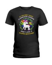 Unicorn stupid Ladies T-Shirt thumbnail