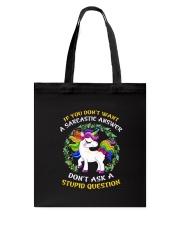 Unicorn stupid Tote Bag thumbnail