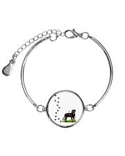 Rottweiler Pawprints  Metallic Circle Bracelet thumbnail