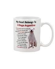 Dogo Argentino - My heart belongs to 1406L Mug front