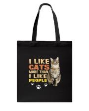 I Like Cats Tote Bag thumbnail